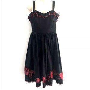 Pinup Couture Large Bella Donna Dress Black Pinup